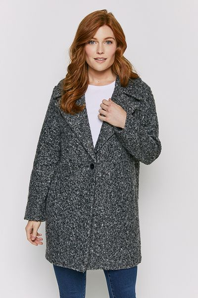 Grey Boucle Coat