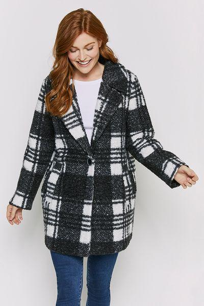 Check Boucle Coat