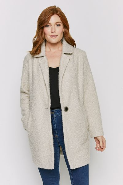 Natural Boucle Coat
