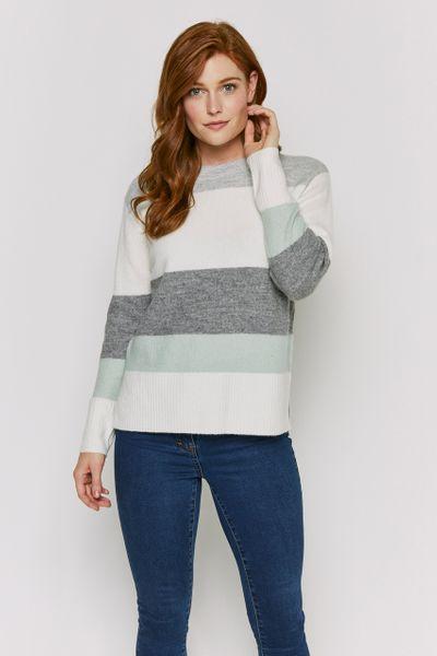 Grey Stripe Jumper