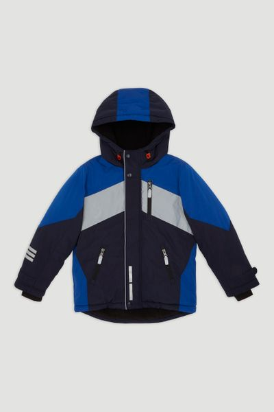 Cobalt Reflective Panel Coat