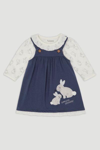 Bunny Pinafore Dress Set