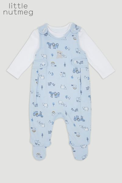 Little Nutmeg Bear Dungaree Set
