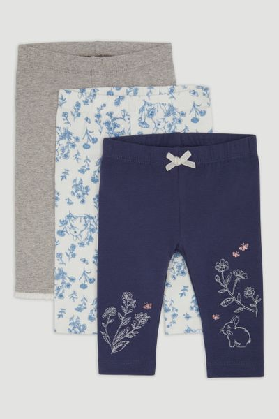 3 Pack Navy Bunny Leggings