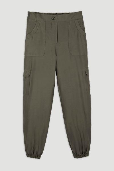 Khaki Cargo Utility Trousers