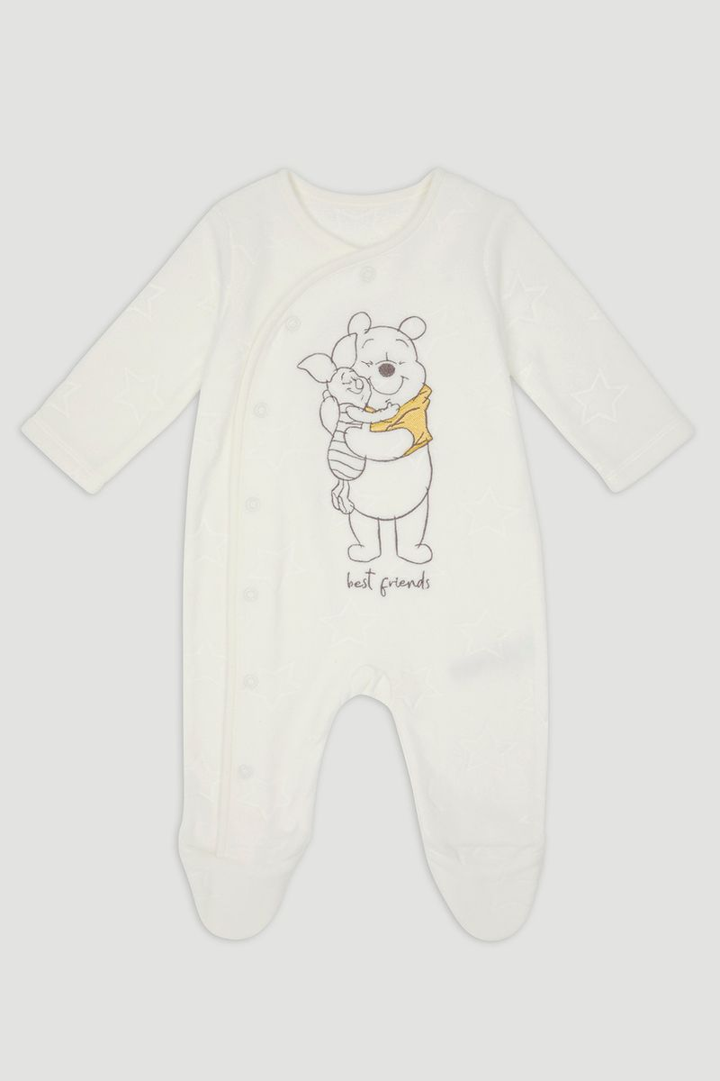 Disney Winnie the Pooh White Fleece Onesie