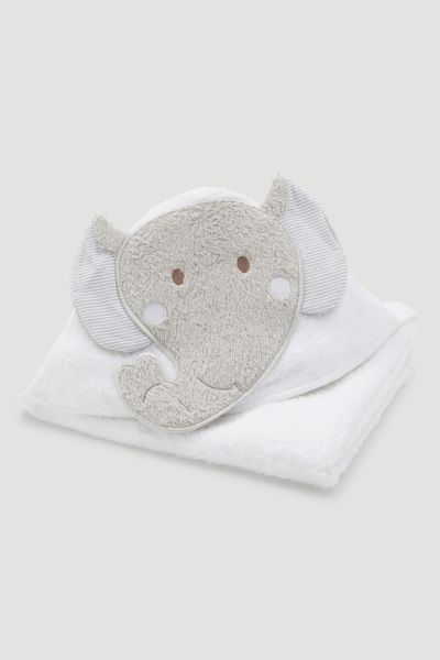 White Elephant Hooded Towel
