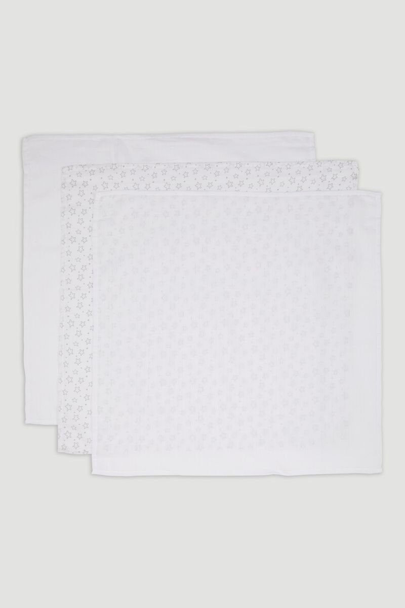3 Pack Star Muslin Squares