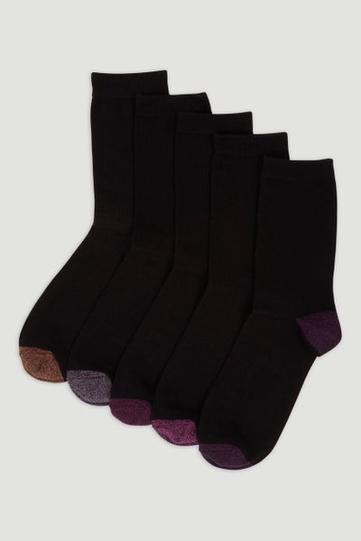 5 Pack Dark Berry socks