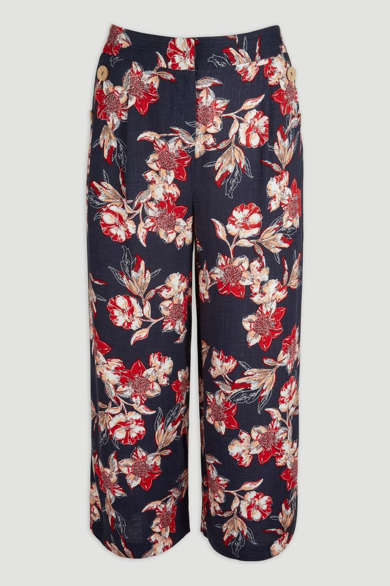 Navy Floral Co-ord Culottes