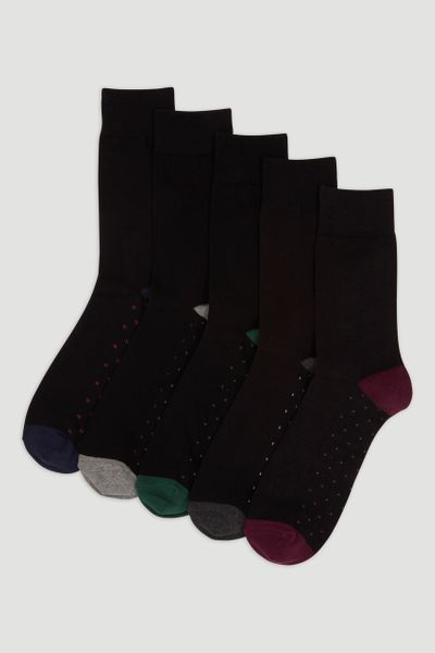 5 Pack Patterned Socks