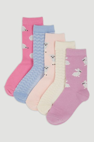 5 Pack Animal Socks