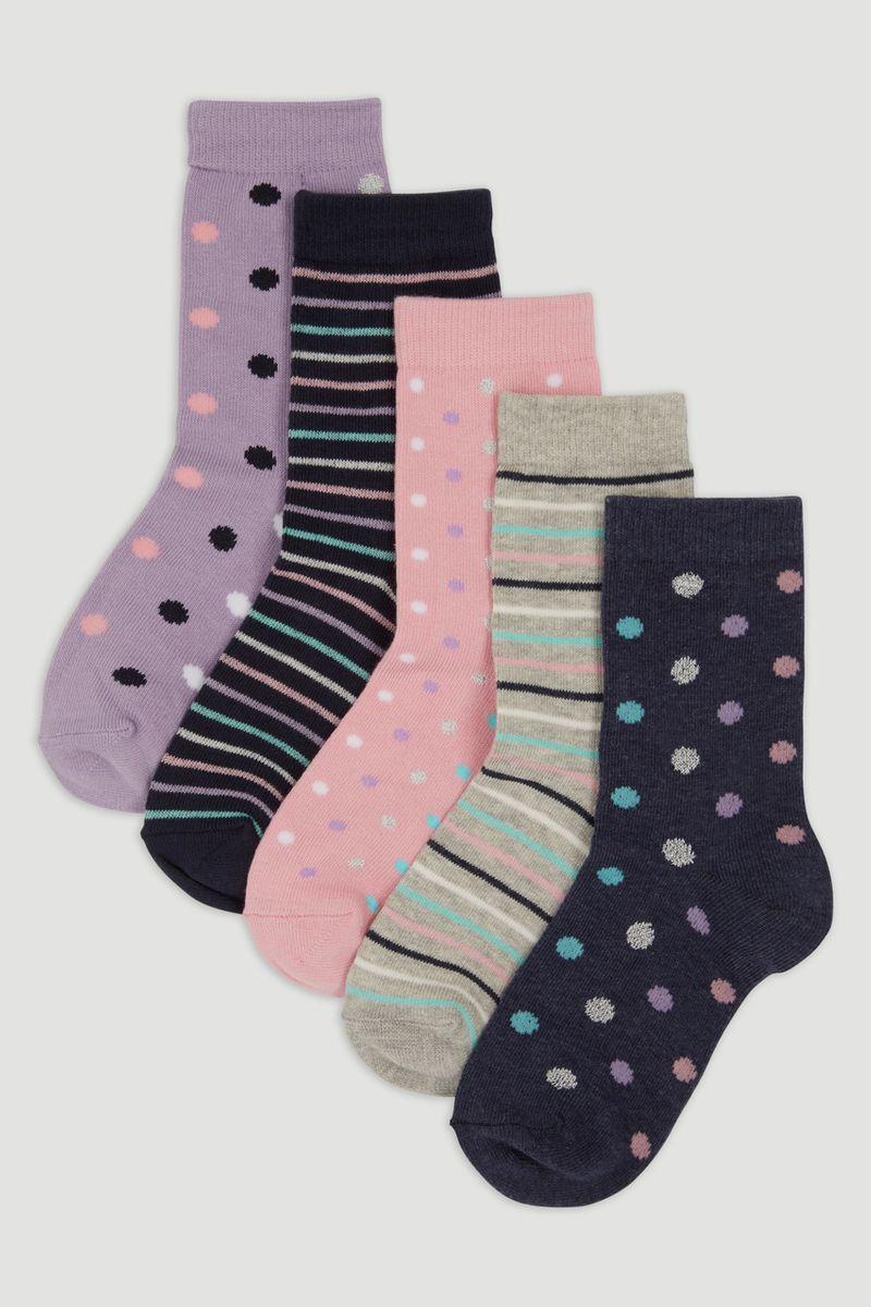 5 Pack Colourful Socks