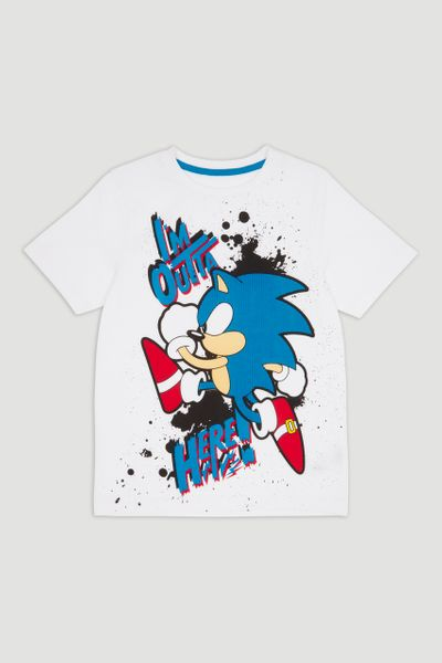 Sonic Textured Print T-shirt