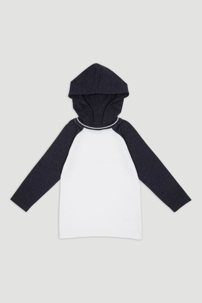 Hooded Raglan Long Sleeve T-shirt