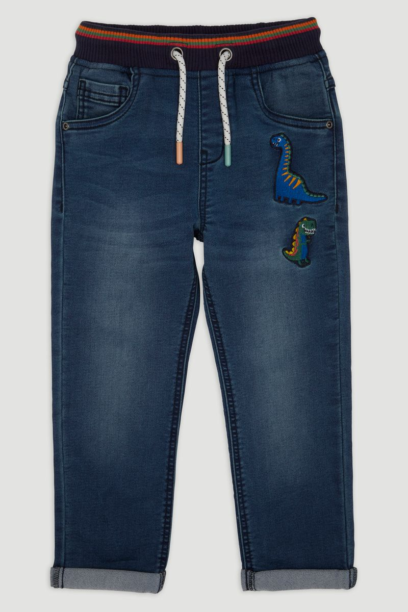 Dino Embroidery Jeans