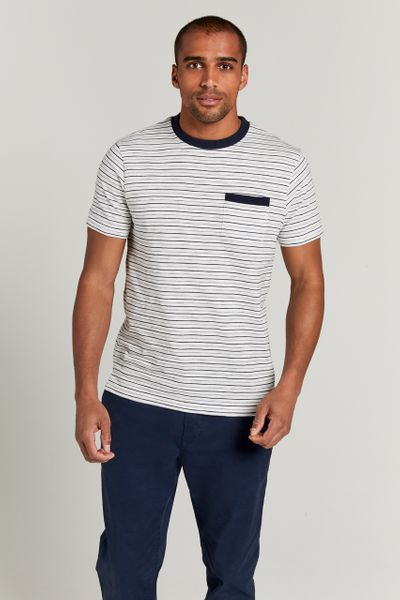 Navy White Stripe Tee