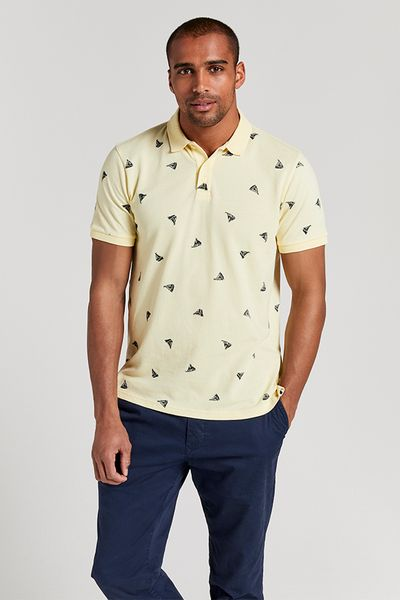 Yellow Boat Polo Shirt