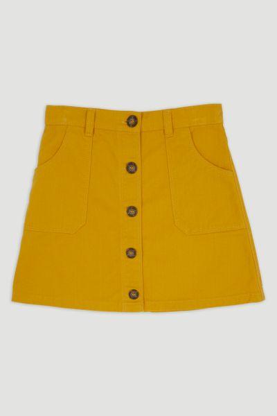 Mustard Twill Skirt