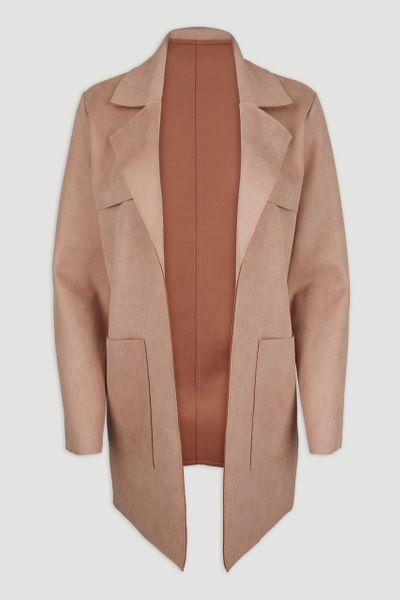 Brown Suedette Jacket