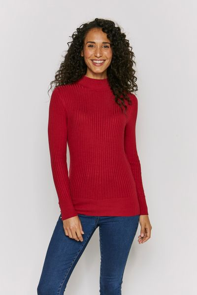 Red Turtle Neck Top