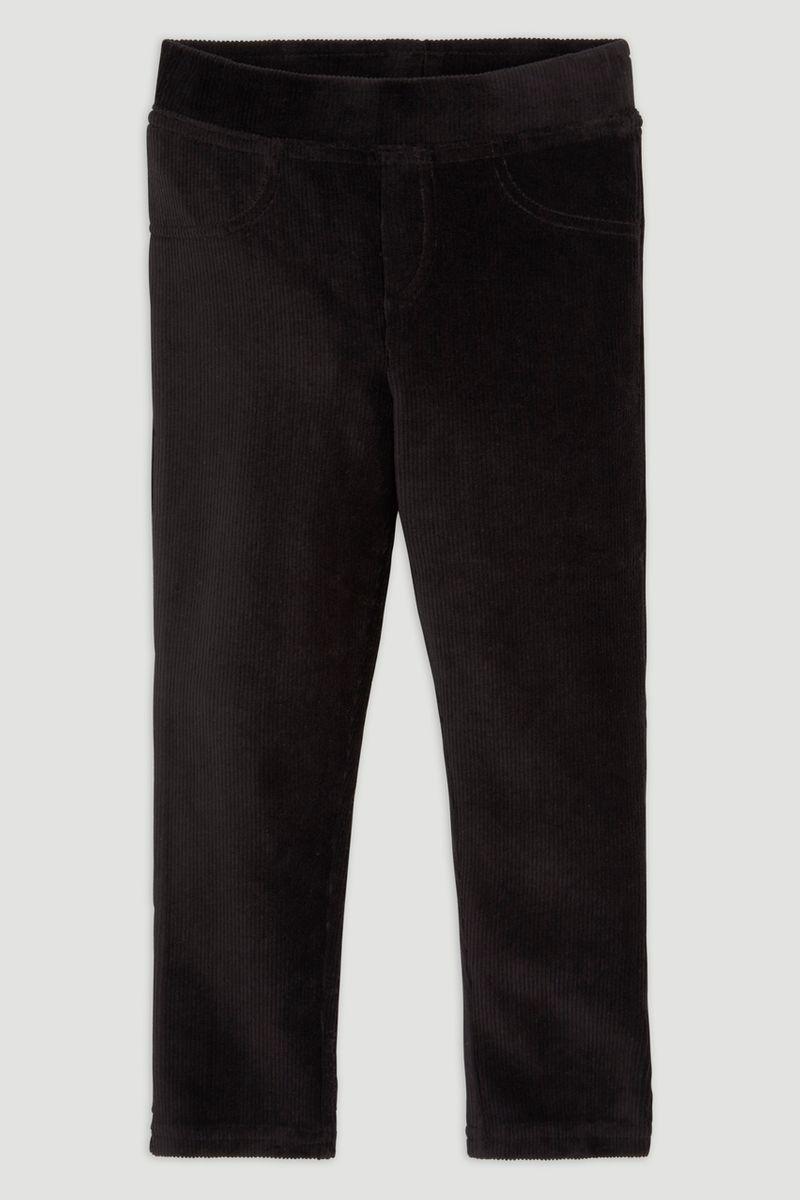 Black Velour Leggings 1-6yrs