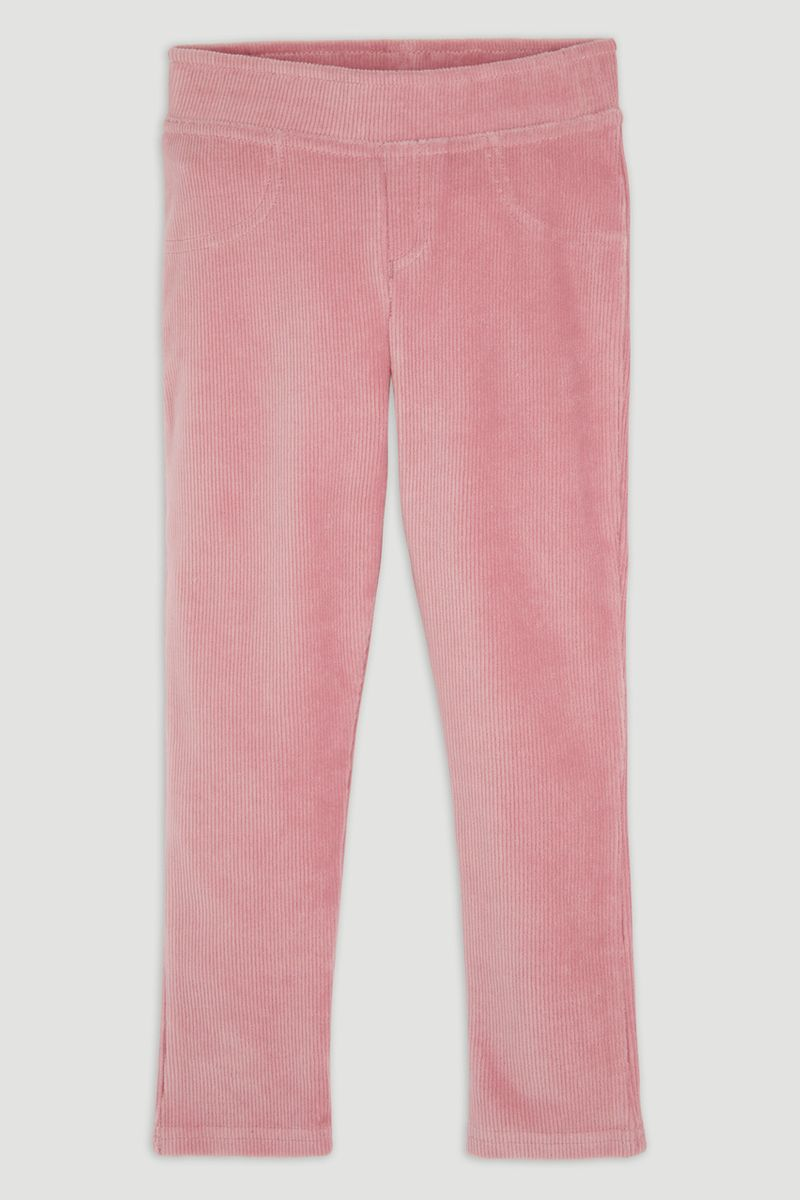 Pastel Pink Velour Leggings
