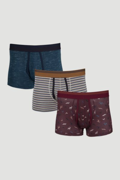 3 Pack Animal Trunks