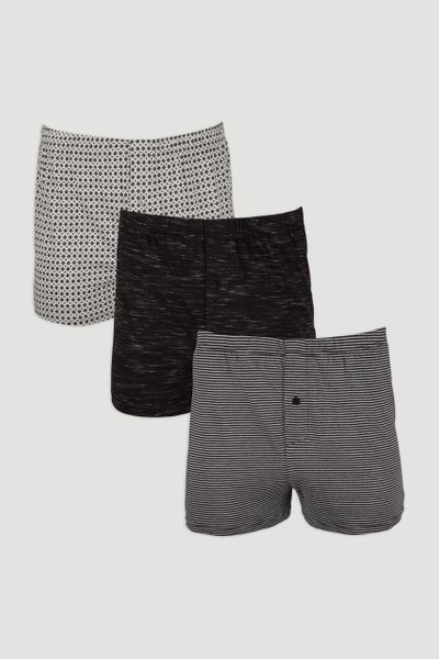 3 Pack Geo Stripe Boxers