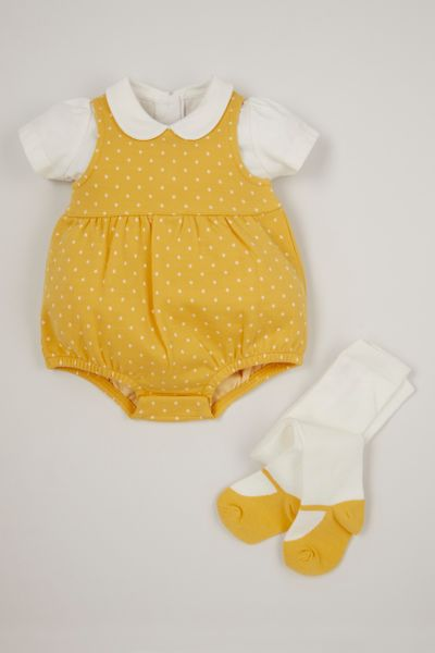 3 Piece Polka Dot Romper set