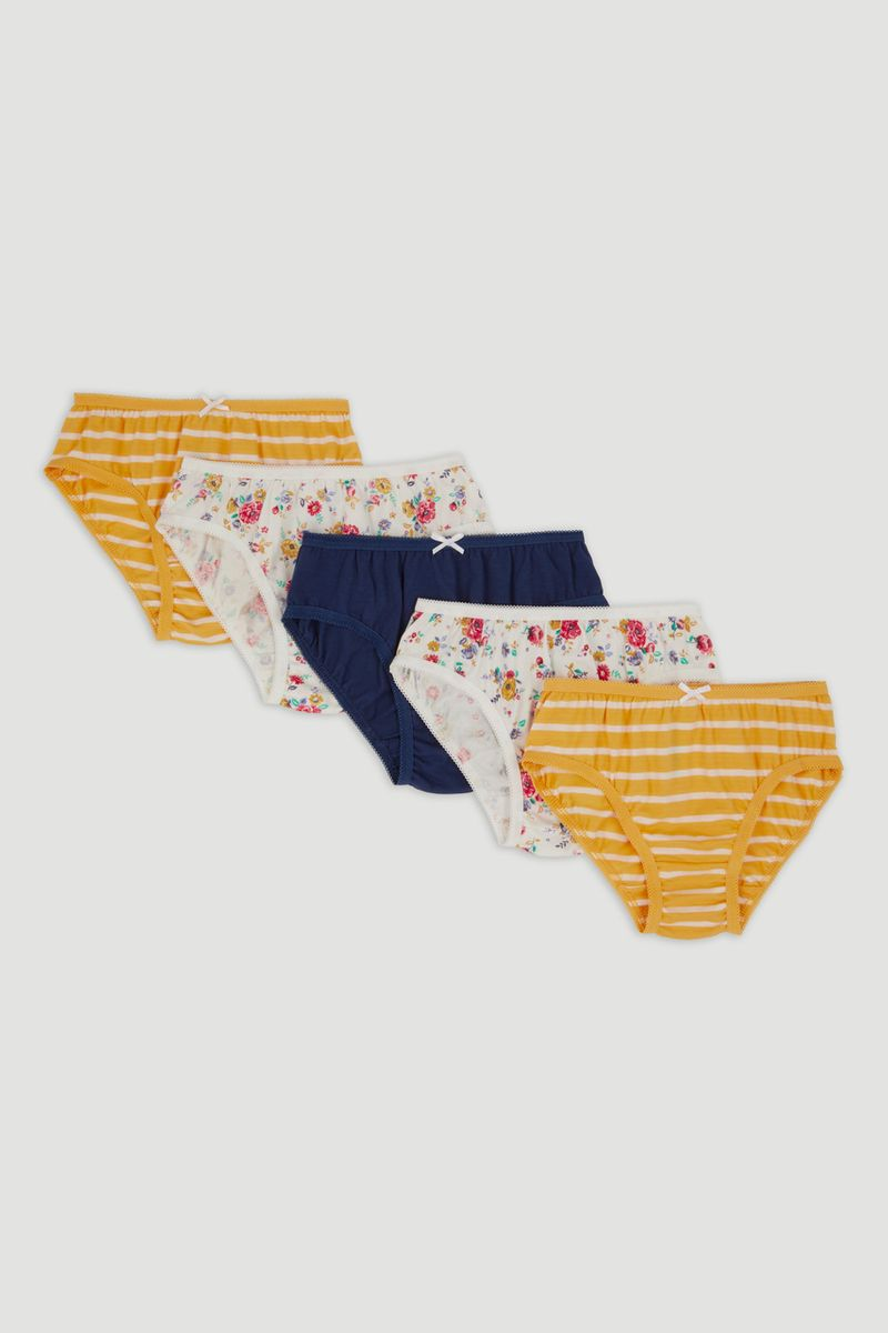 5 Pack Floral Briefs