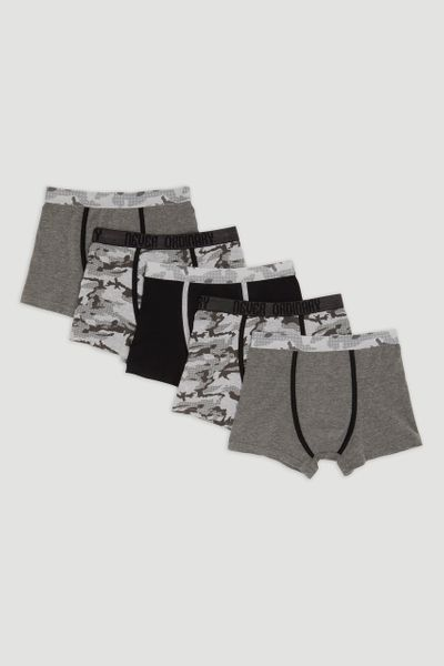 5 Pack Camo Print Trunks