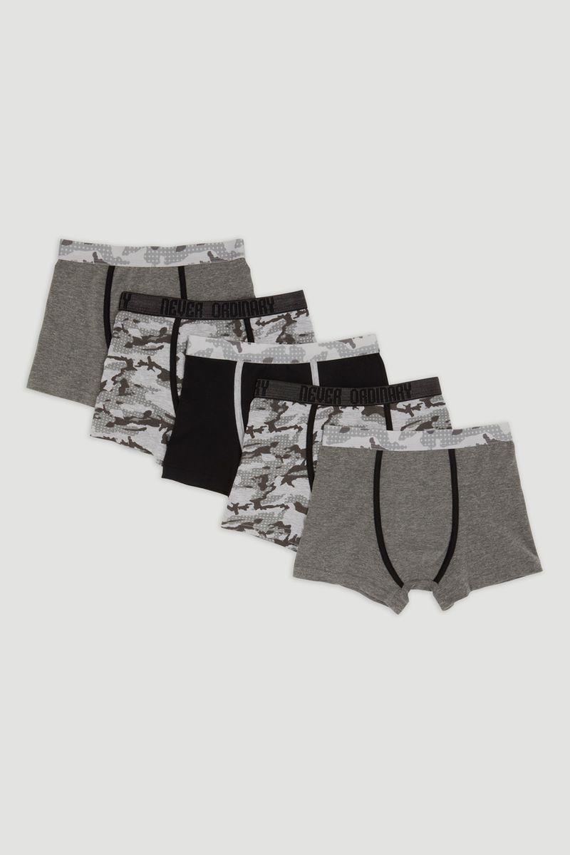 5 Pack Camo Print Trunks