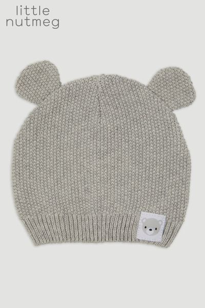 Little Nutmeg Grey Bear Hat