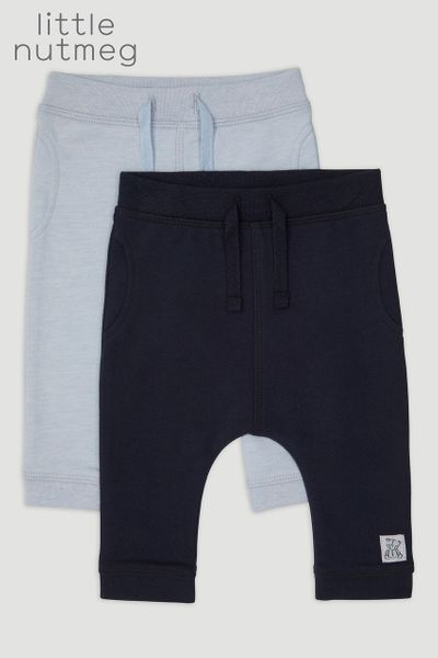 Little Nutmeg 2 Pack Pale Blue Joggers