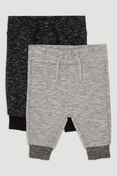 2 Pack Black & Grey Marl Jogger