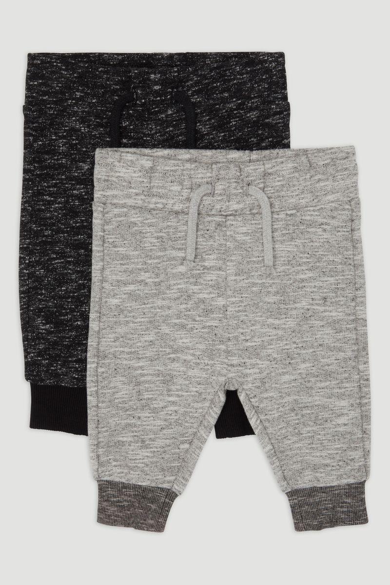 2 Pack Black & Grey Marl Jogger
