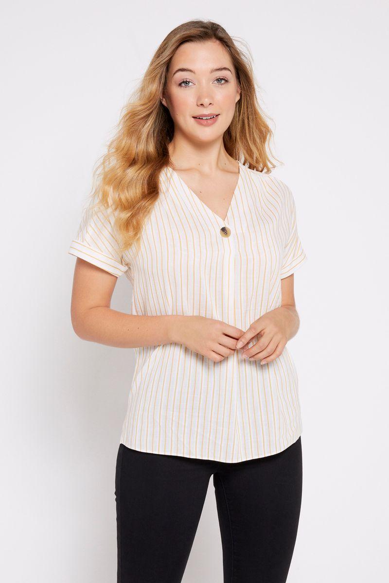 Ochre Stripe Overhead Shirt