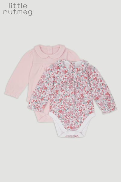 Little Nutmeg Floral Long Sleeve Bodysuits