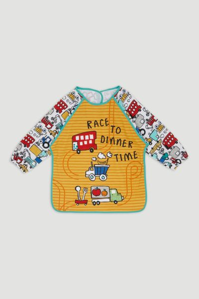 Yellow Race to Dinner Coverall Bib