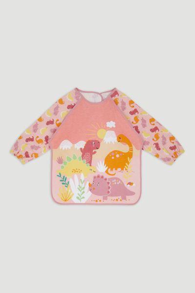 Pink Dino Coverall Bib