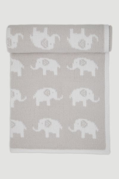 Grey Elephant Chenille Shawl