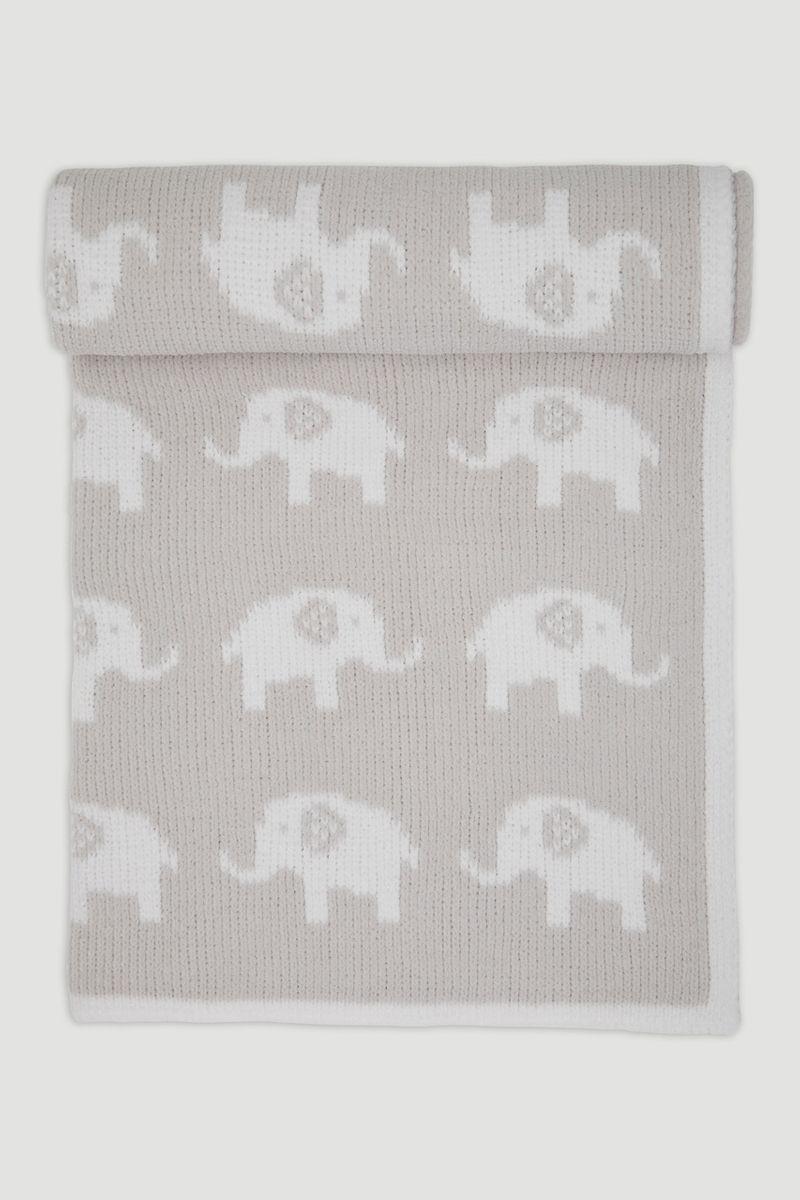 Grey Elephant Chenille Shawl