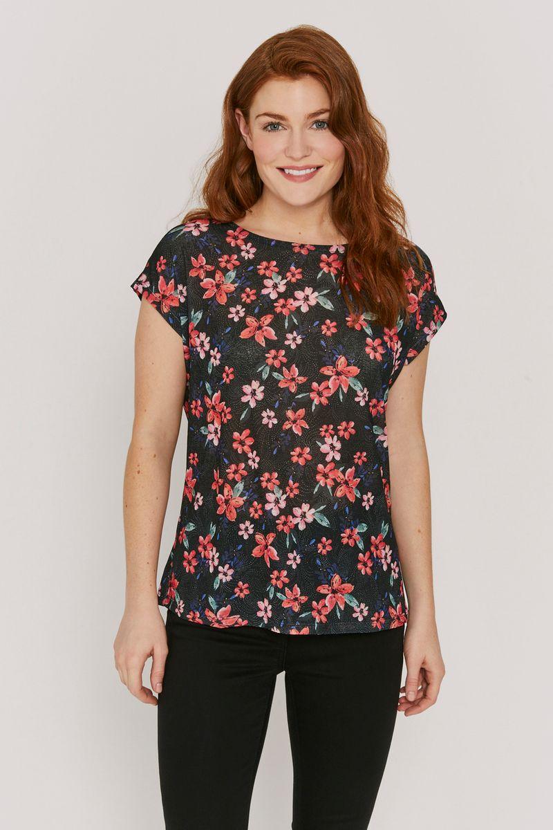 Black & Red Floral Shirt