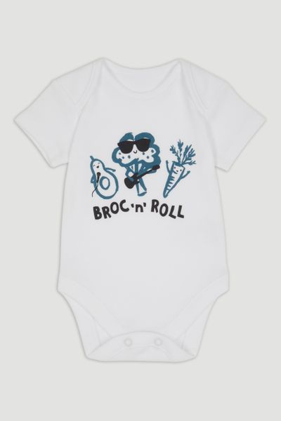 White Broc 'n' Roll Bodysuit