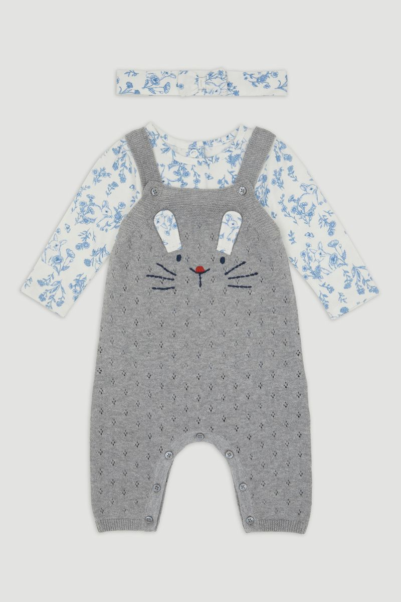 Bunny Knitted Dungaree with Headband