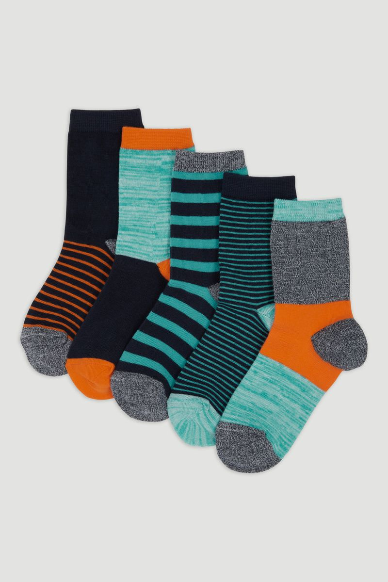 5 Pack Bright Stripe Socks