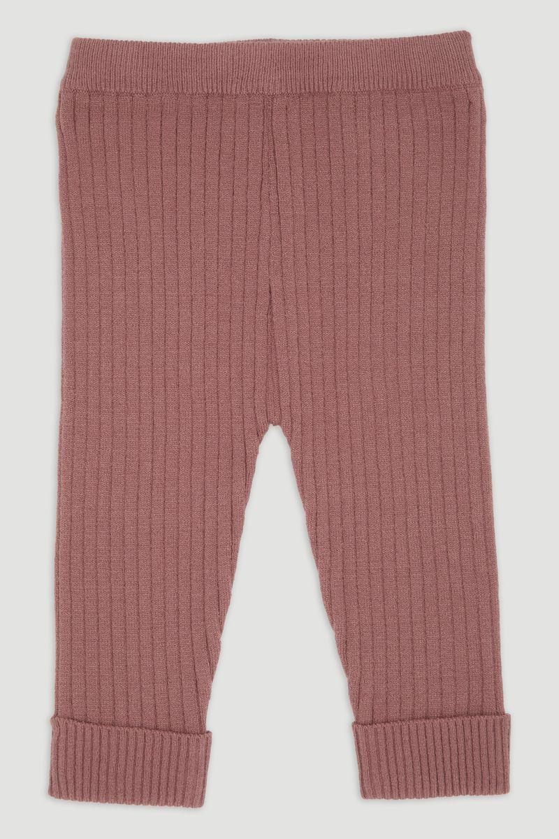 Dusty Pink Rib Knitted Leggings