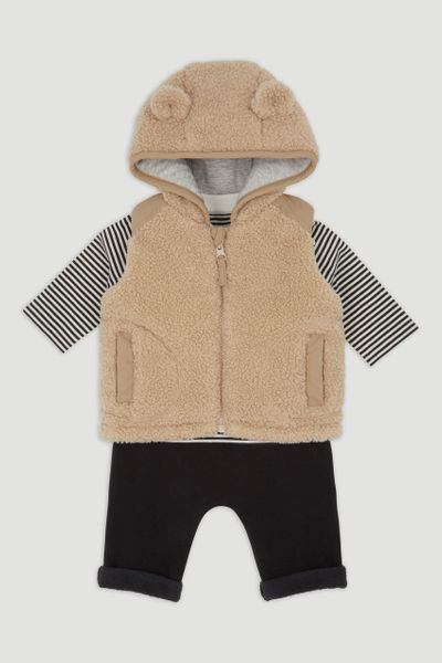 3 Piece Sherpa Gilet Set