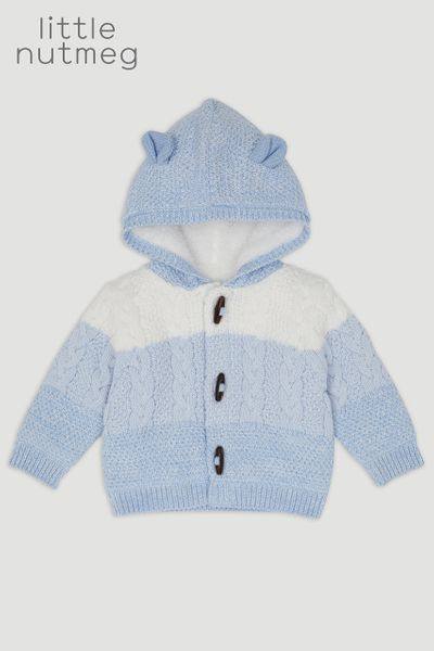 Little Nutmeg Bear Borg Lined Cardigan